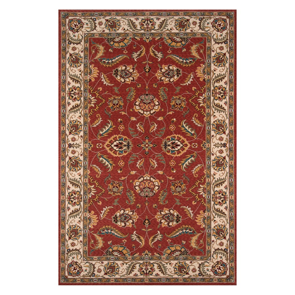5'X8' Floral Loomed Area Rug Salmon (Pink) - Momeni
