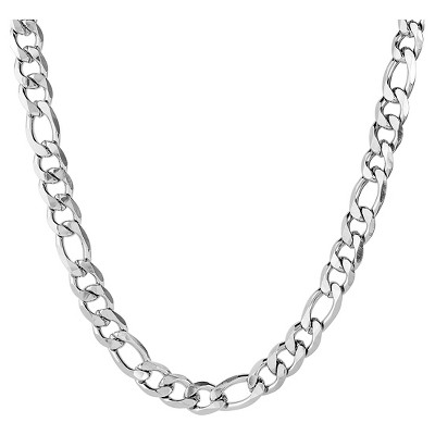 Men's West Coast Jewelry Stainless Steel Beveled Figaro Chain Necklace (12mm)