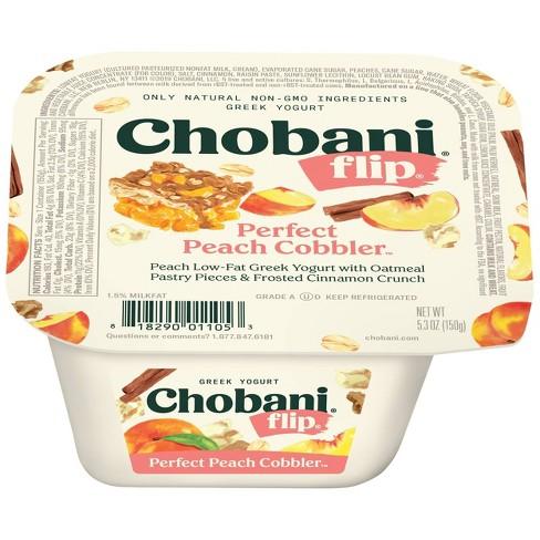 Chobani Flip Peach Low Fat Greek Yogurt - 5.3oz - image 1 of 4