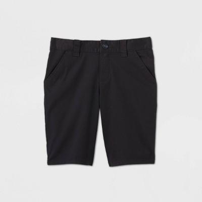 Girls' Flat Front Stretch Uniform Shorts - Cat & Jack™ Black