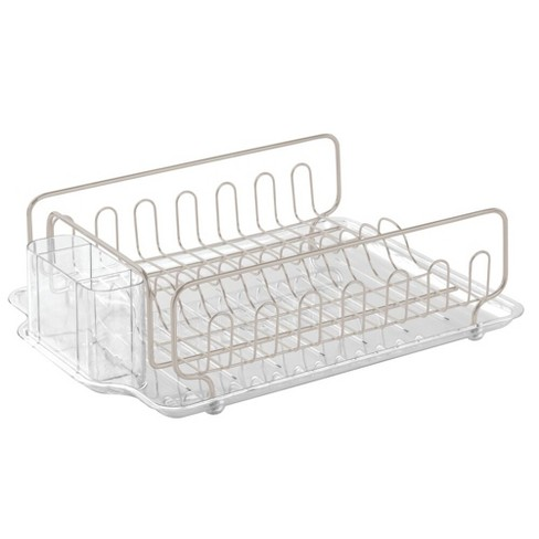 mDesign Dish Drainer Drying Rack, Cutlery Caddy & Drainboard - image 1 of 4