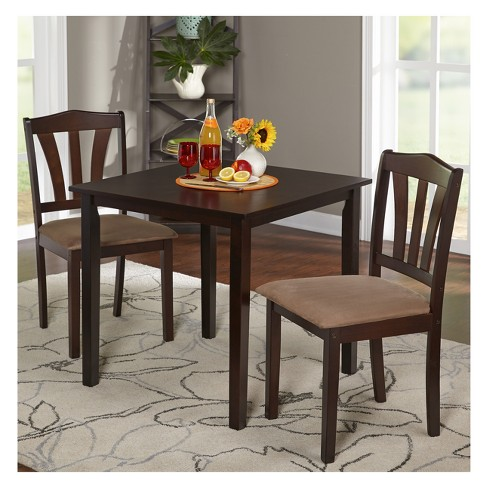 3pc Mainfield Dining Set Espresso Brown Buylateral Target