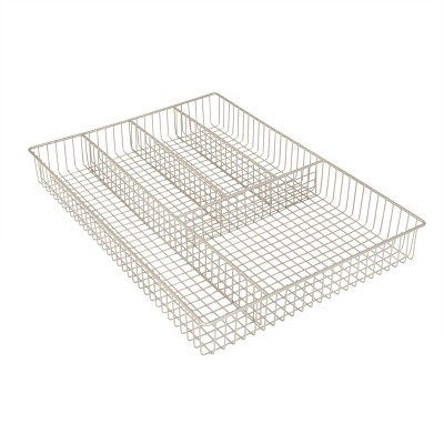 Spectrum Grid Large Silverware Tray - Satin Nickel