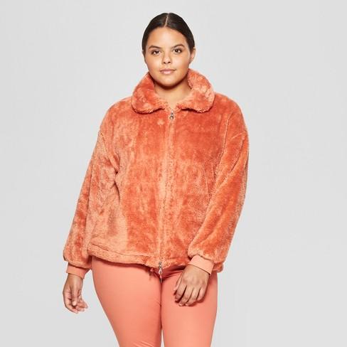 21a2b55cc09 Women s Plus Size Sherpa Full Zip Fleece Jackets - JoyLab™ Cognac ...