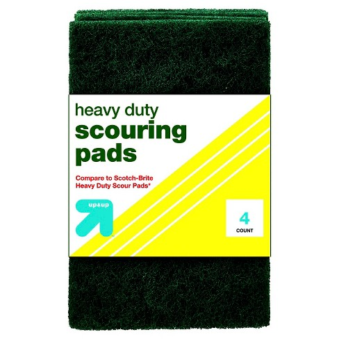 Up&Up™ Heavy Duty Scouring Pads - 4pk (Compare to Scotch-Brite Heavy Duty Scour Pads) - image 1 of 1