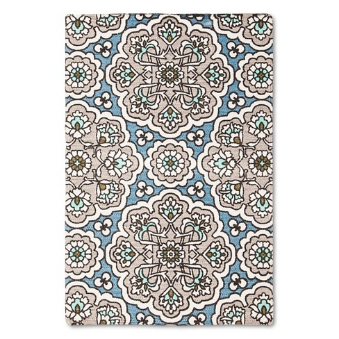 "Blue/Pink Tulum Accent Rug (24""X36"") - Threshold™ - image 1 of 2"