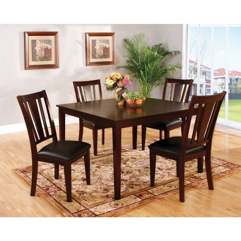 Iohomes 7pc Simple Dining Table Set Woodespresso Target - Simple-dining-room