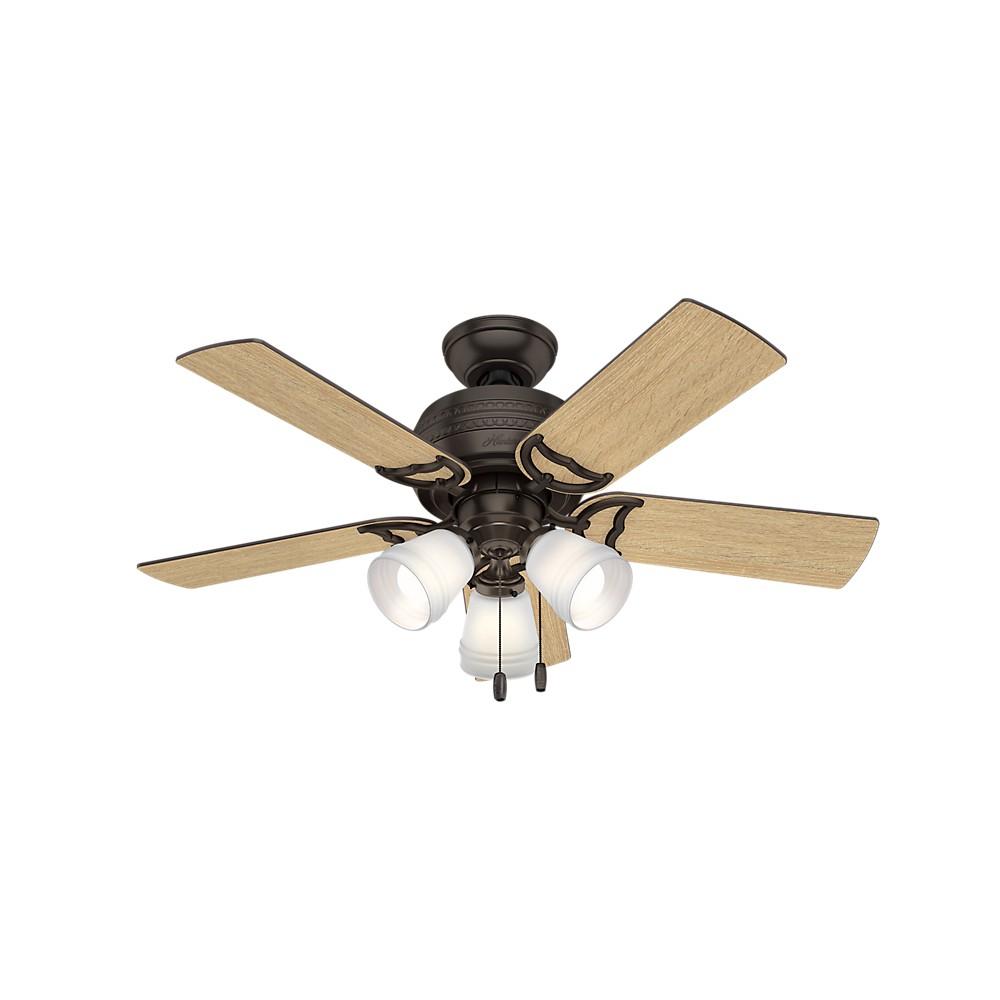"Image of ""42"""" Prim Premier LED Lighted Ceiling Fan Bronze - Hunter Fan"""