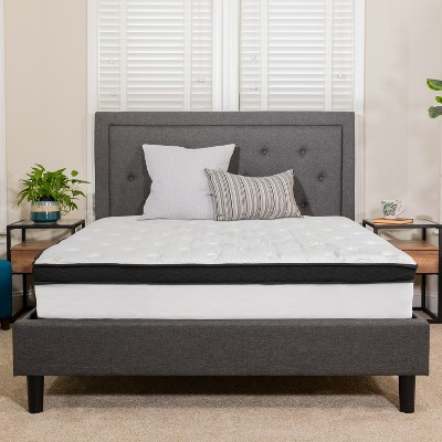 Flash Furniture Capri Comfortable Sleep 12 Inch CertiPUR-US Certified Memory Foam & Pocket Spring Mattress, Mattress in a Box
