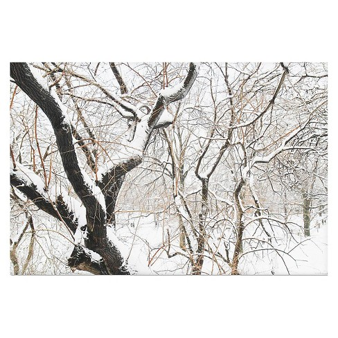 'Snowy Trees' by Ariane Moshayedi Ready to Hang Canvas Wall Art - image 1 of 2
