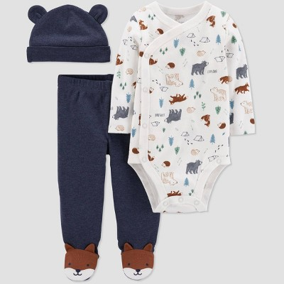 Baby Boys' 3pc Fox Top & Bottom Set - Just One You® made by carter's 6M Blue