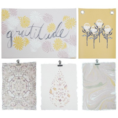 12.3 x8.5  5pc Gallery Decorative Wall Art Set Yellow - Room Essentials™
