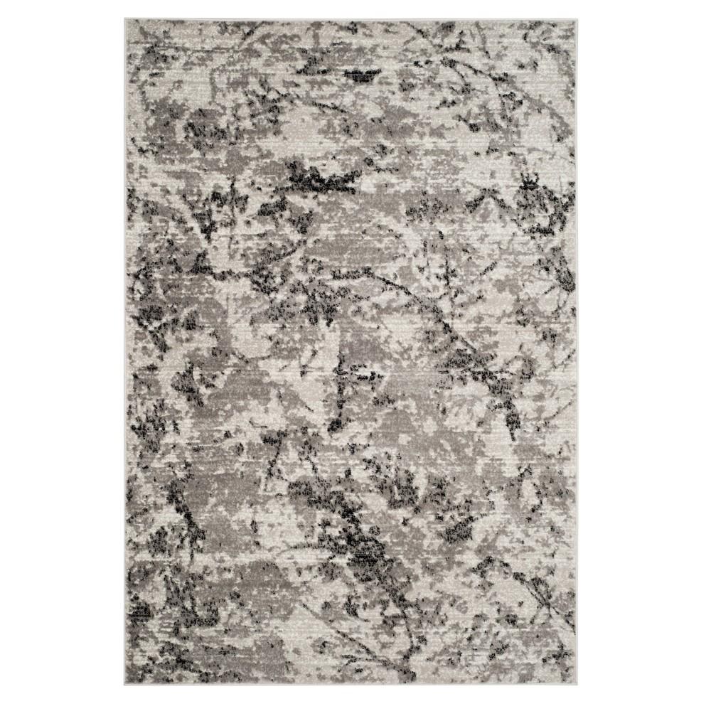 Gray/Ivory Fleck Loomed Area Rug 5'1