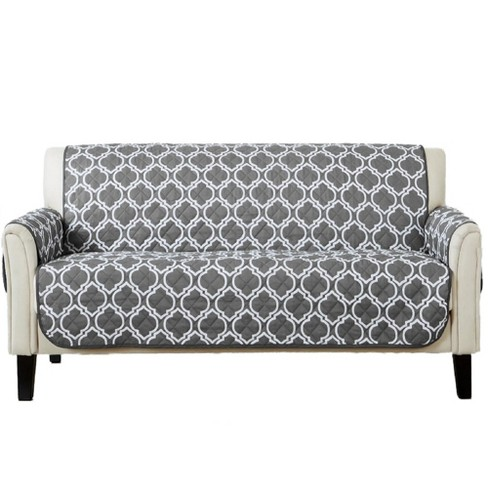 Home Fashion Designs Adalyn Collection Printed Sofa Furniture Protector Charcoal Target