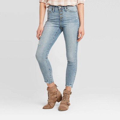 Women's High-Rise Cropped Skinny Jeans - Universal Thread™ Medium Wash