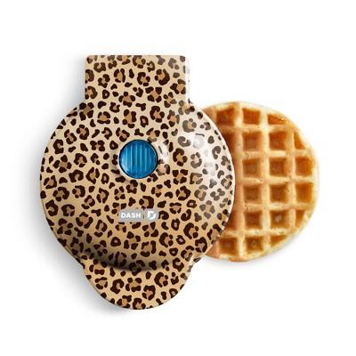 Dash Mini Waffle Maker Leopard Print