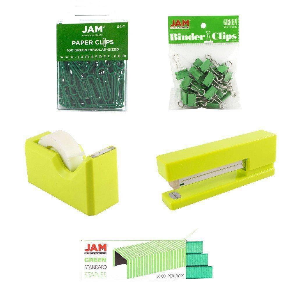 Image of JAM Paper 5pk Office Starter Kit - Green