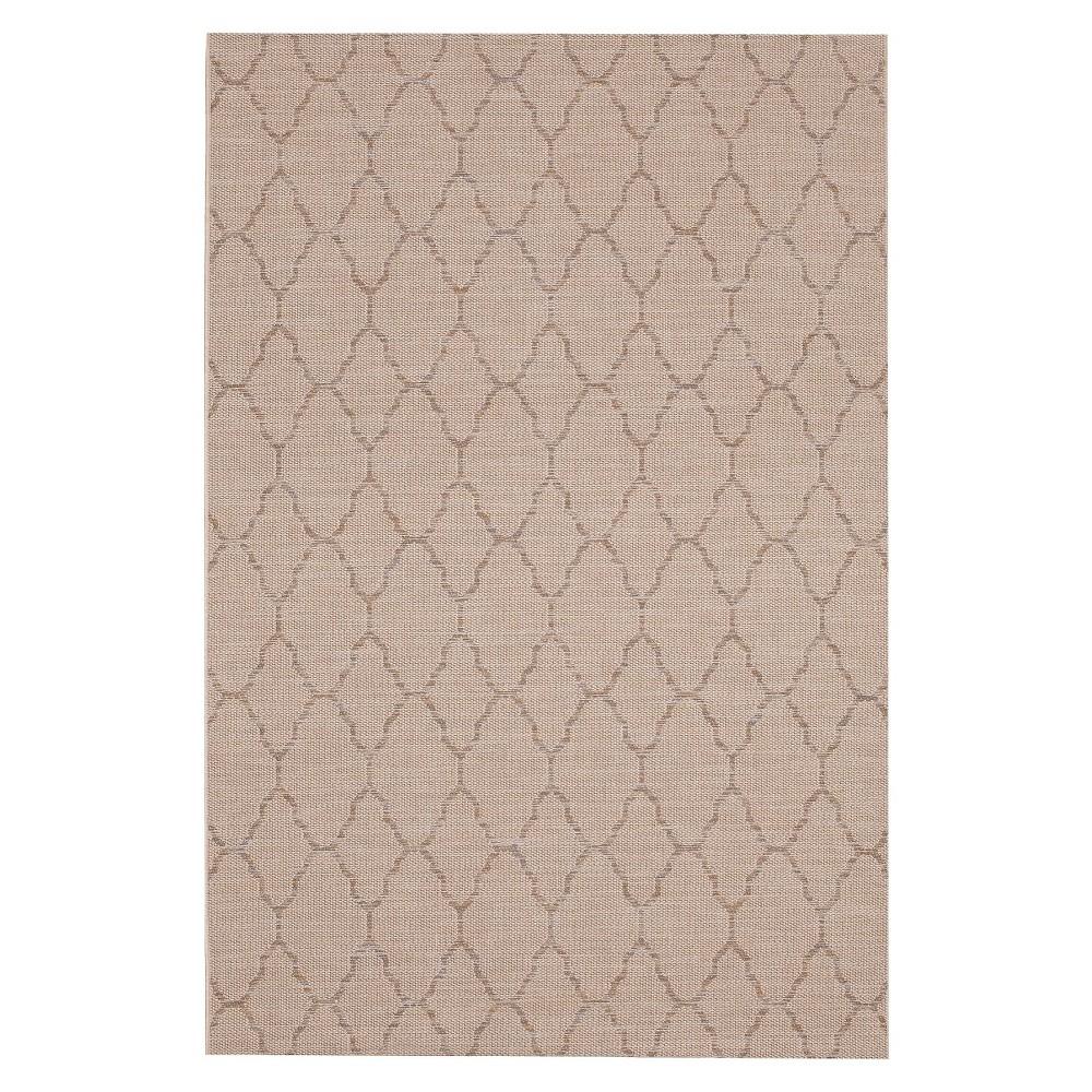 Sheffield 8'x10' Rectangular Indoor/Outdoor Patio Rug, Silver Gray