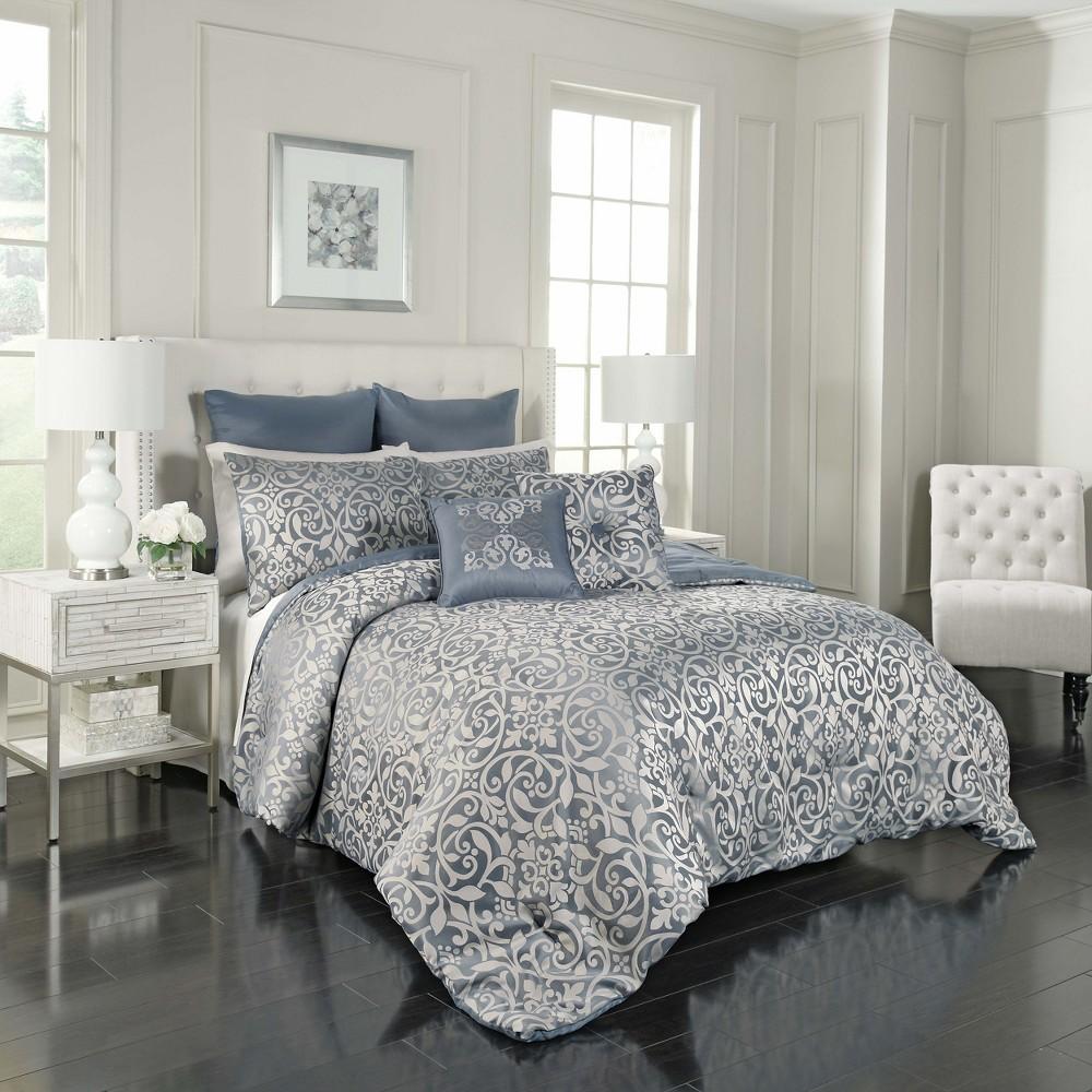 7pc Queen Livvy Comforter Set Blue - Vue Signature