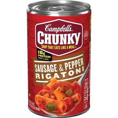 Campbell's Chunky Sausage & Pepper Rigatoni Soup - 18.8oz