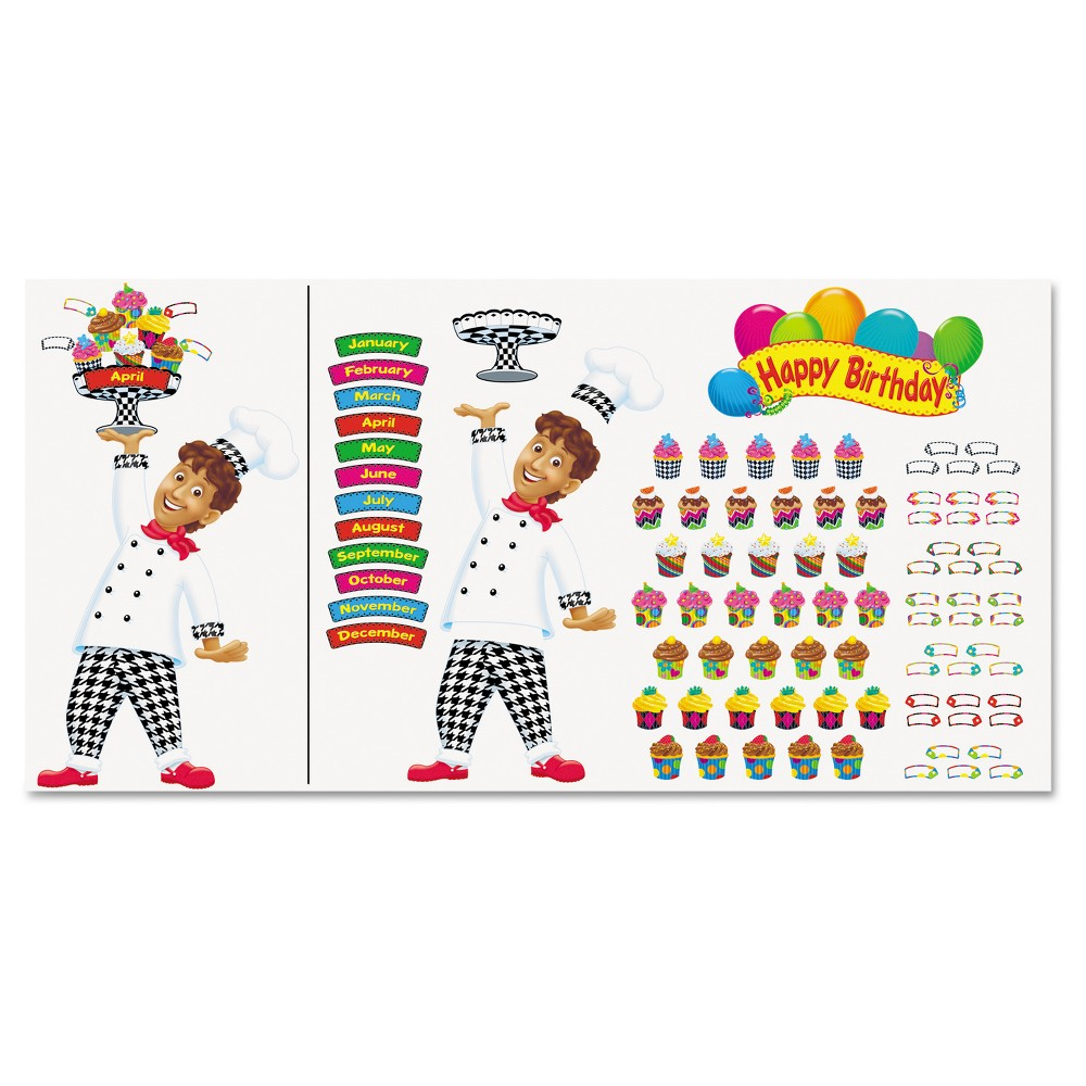 Trend Happy Birthday Bake Shop Bulletin Board Set 93pc, Multi-Colored