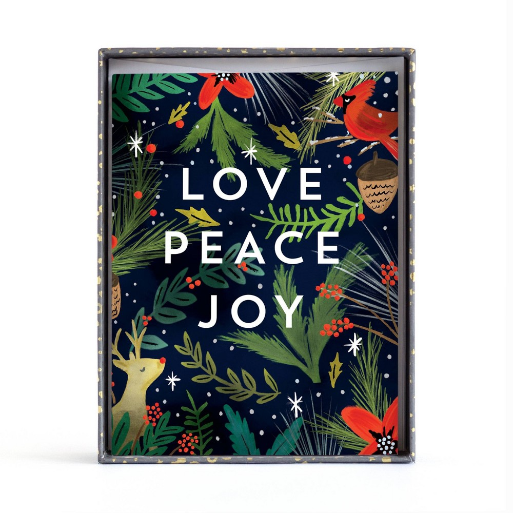 Image of 10ct Minted Love Peace Boxed Greeting Cards