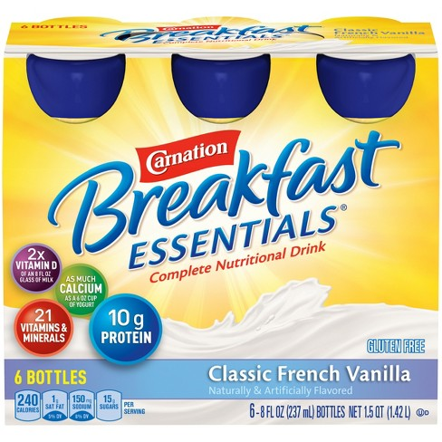 Carnation Breakfast Essentials Ready to Drink Classic French Vanilla - 8 fl oz bottle, 6ct - image 1 of 3