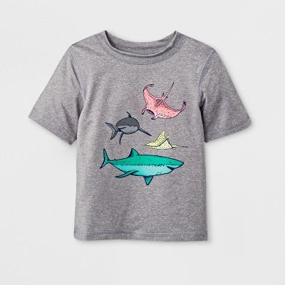 Baby Boys' Short Sleeve Rash Guard - Cat & Jack™ Gray 12M