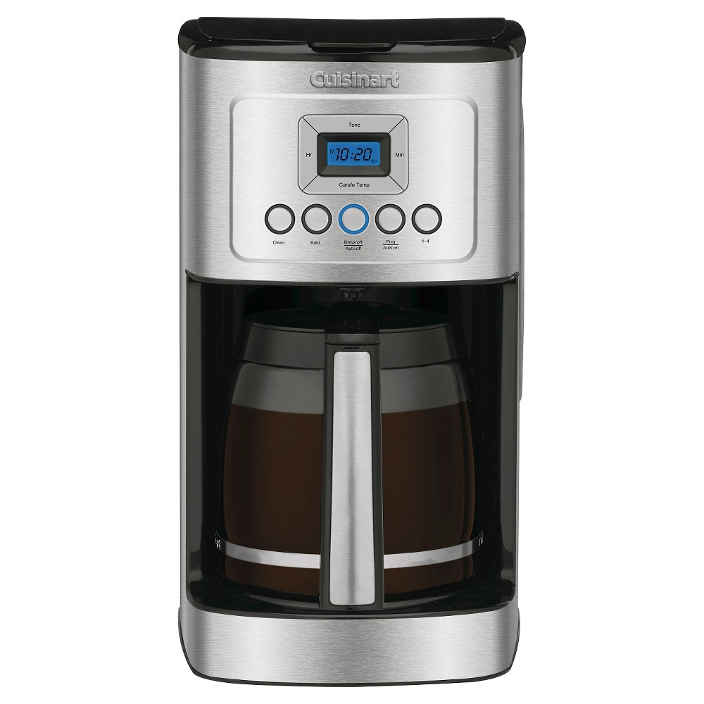 Cuisinart Perfectemp 14 Cup Programmable Coffee Maker – Stainless Steel Dcc-3200, Black/Grey 21398008