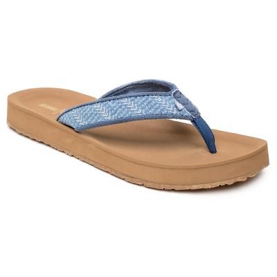 Minnetonka Women's Textile Hedy Thong Sandals