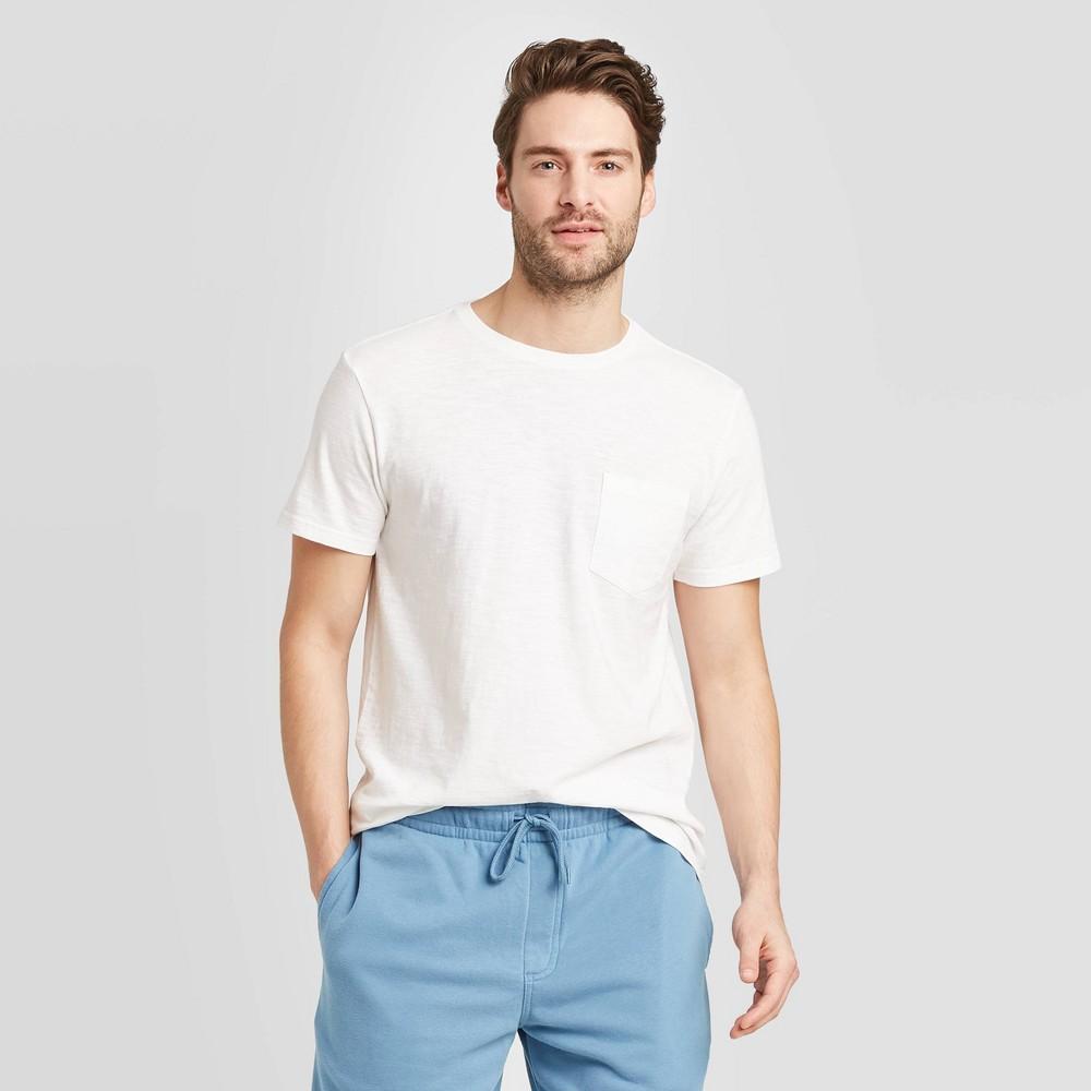 Men 39 S Regular Fit Slub Pocket Crew Neck T Shirt Goodfellow 38 Co 8482 White 2xl