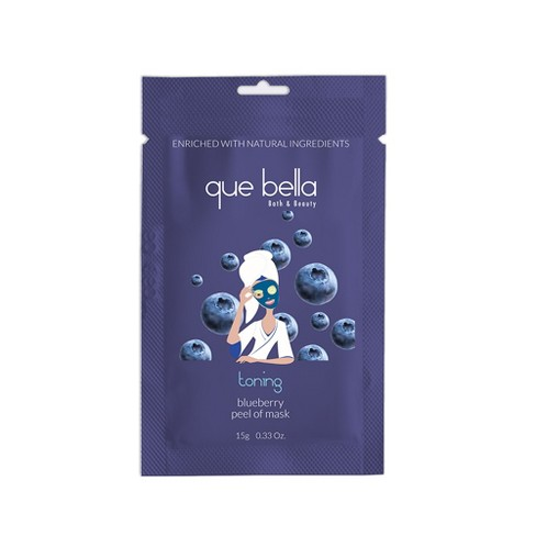Que Bella Toning Blueberry Peel Off Mask - 0.33oz - image 1 of 3