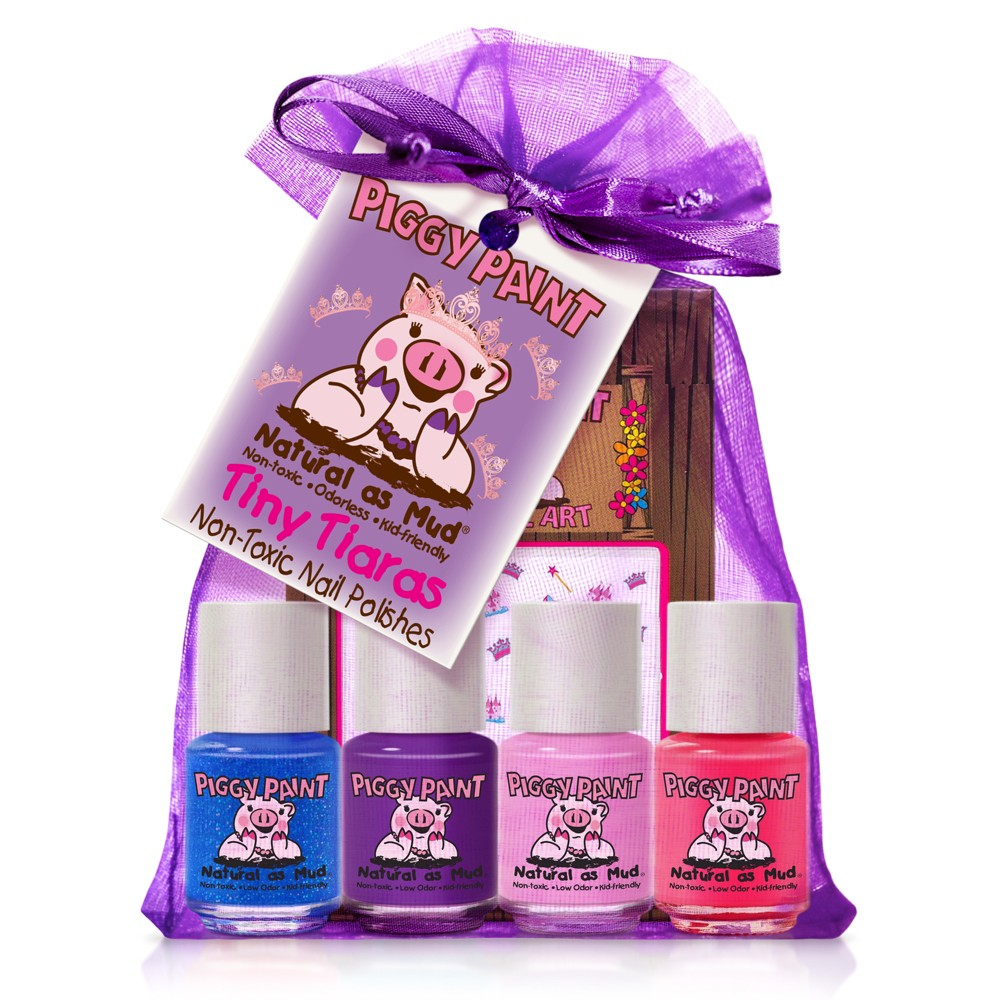 Image of Piggy Paint Tiny Tiaras Non-Toxic Nail Polish & Nail Art Set