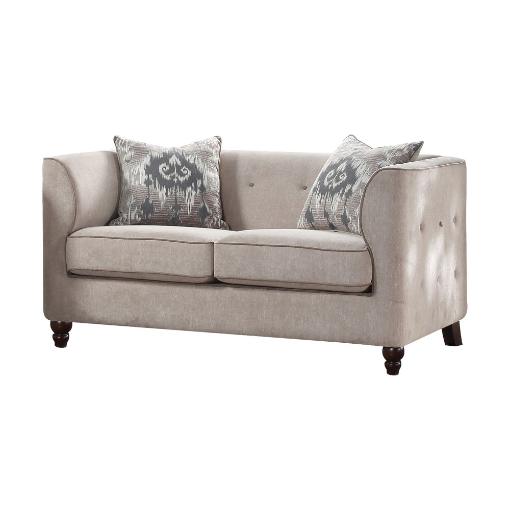 Acme Furniture Cyndi Loveseat Light Gray
