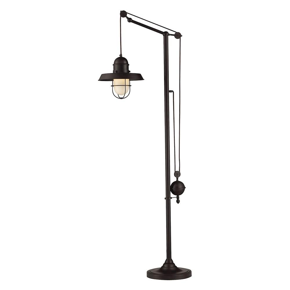 Image of Farmhouse 1 Light Floor Lamp Oiled Bronze (Includes Energy Efficient Light Bulb) - Dimond Lighting