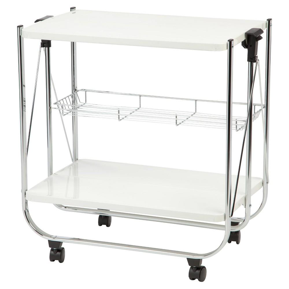 Iris Rolling Storage Cart - White