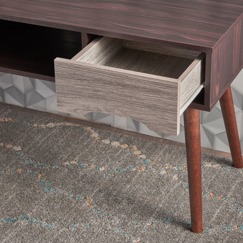 """Image of """"Frieda 47"""""""" Mid Century Entertainment Center Wenge/Gray Oak Brown - Christopher Knight Home"""""""