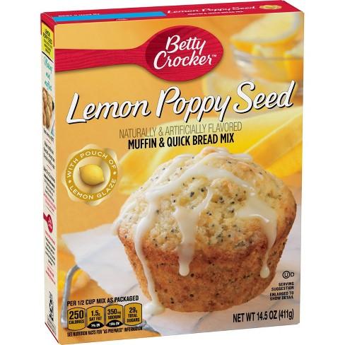 Betty Crocker Lemon Poppy Seed Muffin Mix - 14.5oz - image 1 of 4