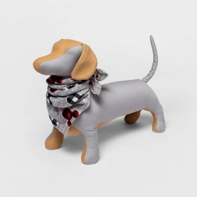 Mickey Mouse Holiday Fleece Matching Family Dog Bandana - Gray