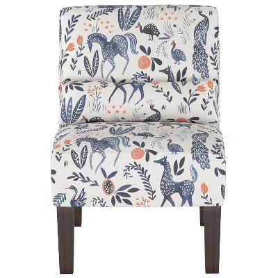 Burke Slipper Chair Ivory Animal Print - Threshold™
