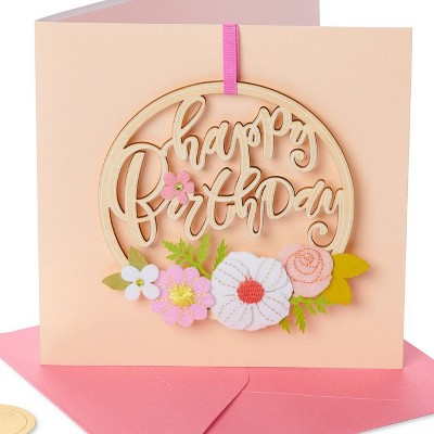 Happy Birthday Floral Ornament Card - PAPYRUS