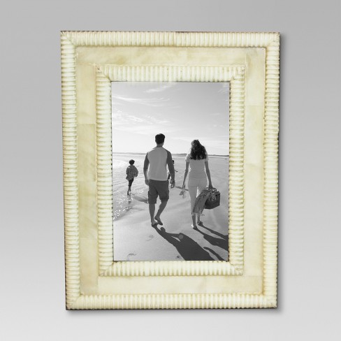 Ribbed Bone Single Image Frame 4x6 - Threshold™ : Target