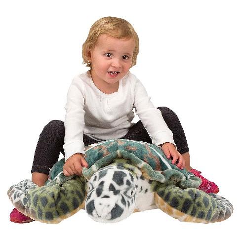 Melissa Doug Giant Sea Turtle Lifelike Stuffed Animal Nearly 3