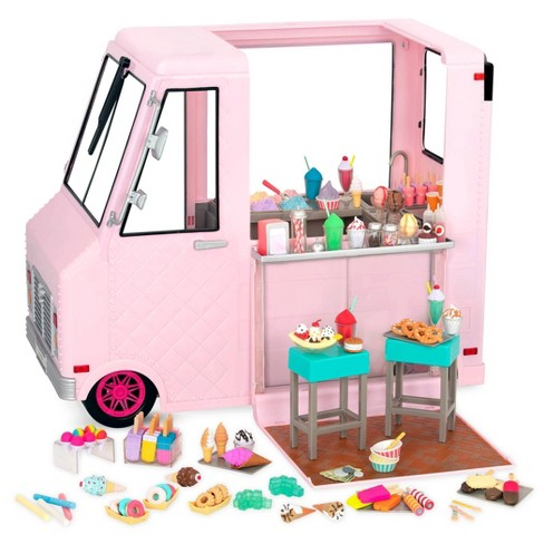 "American Our Generation Sweet Stop Set Play Food 4 Ice Cream Truck 18/"" Girl Doll"