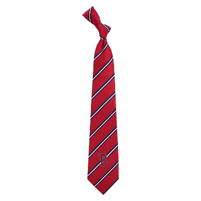 MLB Eagles Wings Boston Red Sox Stripe One Necktie