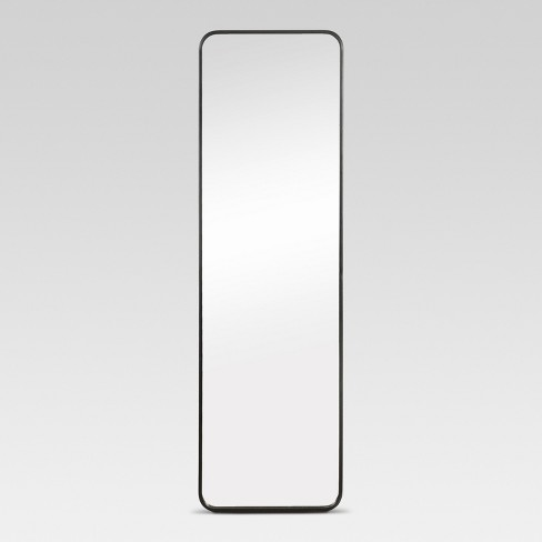 Over-the-Door Mirror Metal Black - Project 62™ - image 1 of 4