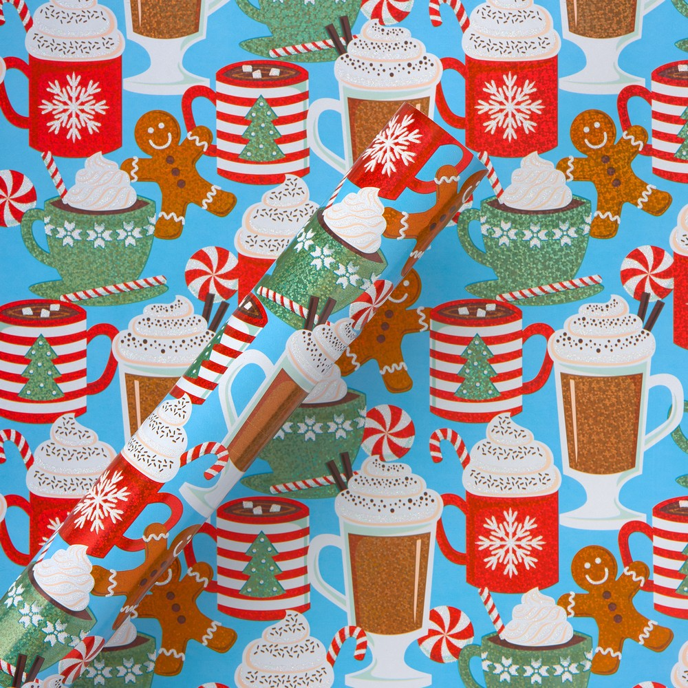 Hot Cocoa And Treats Wrapping Paper - Papyrus, Multi-Colored