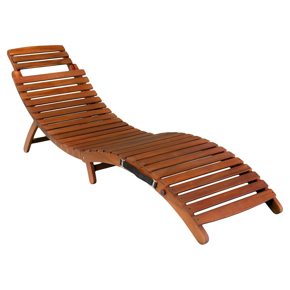 Lahaina Acacia Wood Patio Chaise Lounge - Natural Yellow - Christopher Knight Home