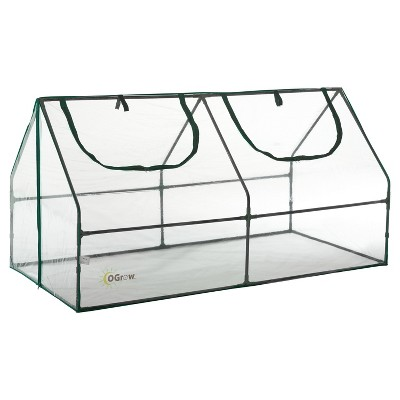Ultra Deluxe Compact Outdoor Seed Starter Greenhouse Cloche - Light Clear - Ogrow