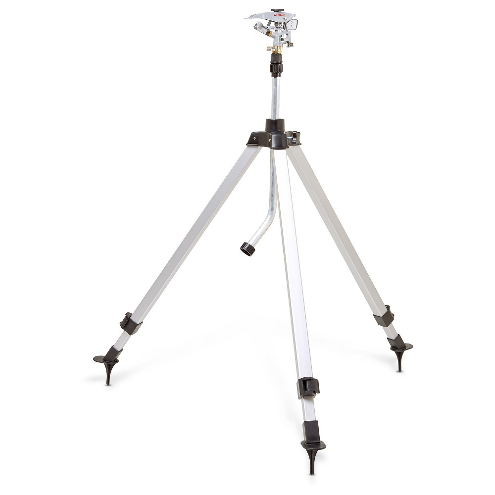 Gilmour Tripod Pulsating Sprinkler, 5,800 sq ft, Telescoping Tripod (58' tall), Multi-Colored